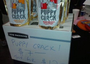 Puppy crack dog treats